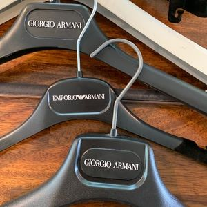 Lot Bundle of Armani Suit Hangers designer